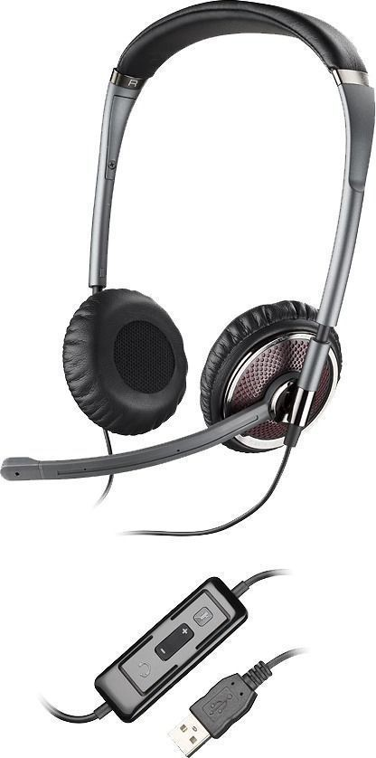 Plantronics Blackwire C420-M/Z USB Binaural Noise Cancelling PC Headset - A Grade