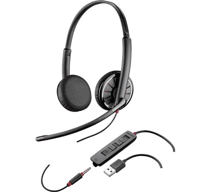 Plantronics Blackwire C325.1-M Binaural Headset With 3.5mm & USB