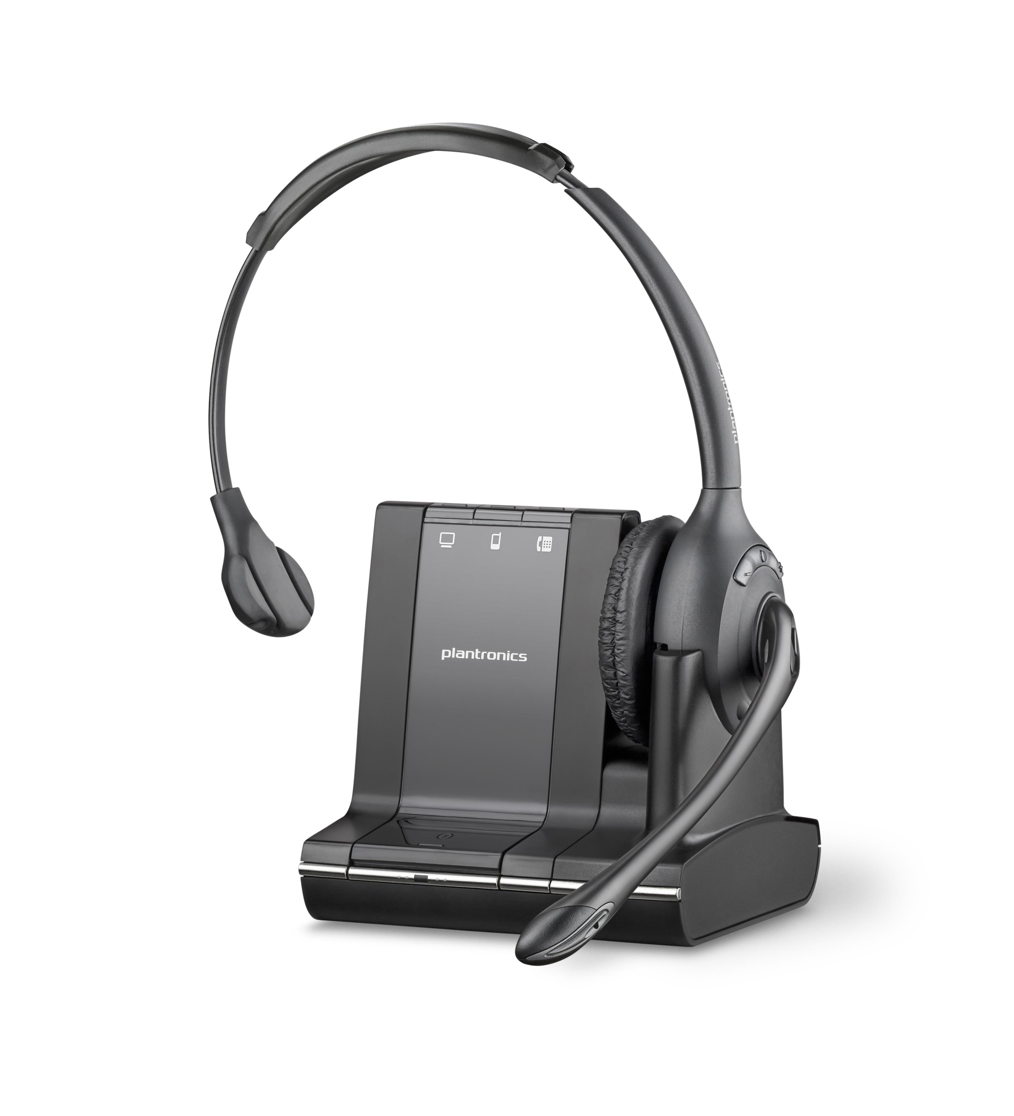 Plantronics Savi Office W710 Cordless Headset For PC, Desk Phone & Mobile