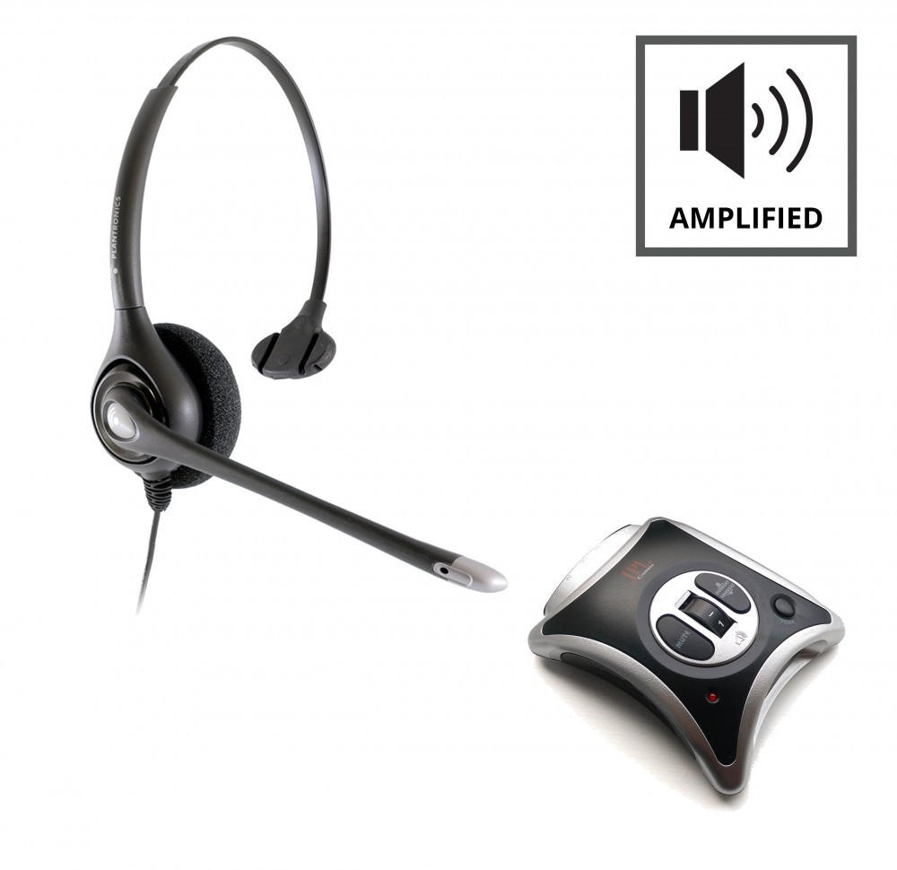 JPL JRC11 Telephone Amplifier + Plantronics HW251N Supraplus Monaural Noise Cancelling Headset A - Grade