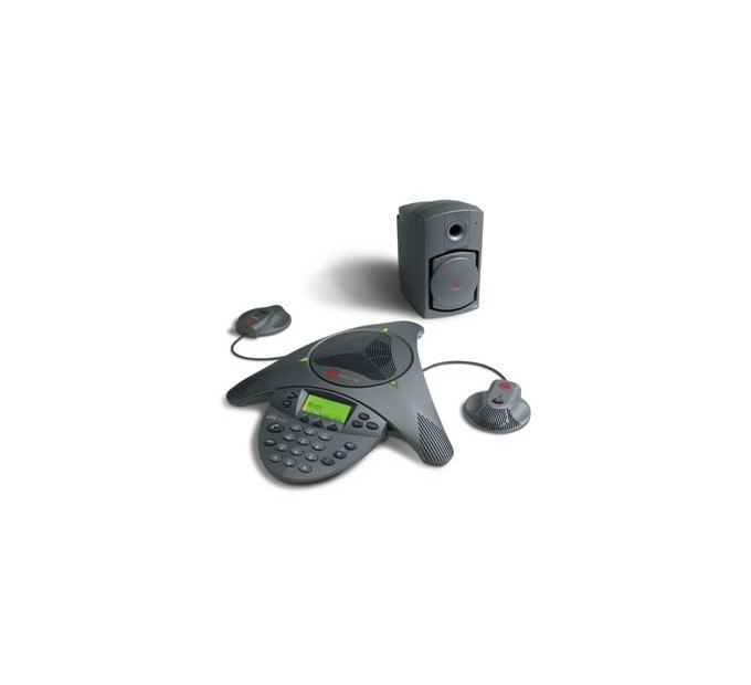 Polycom Soundstation VTX1000 HD Voice with Subwoofer and Microphones Audio Conferencing Phone - A Grade