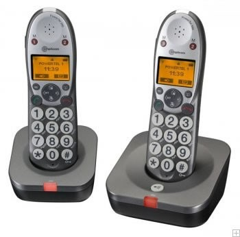Amplicomms Powertel 502 Twin Cordless Telephone - Twin Pack