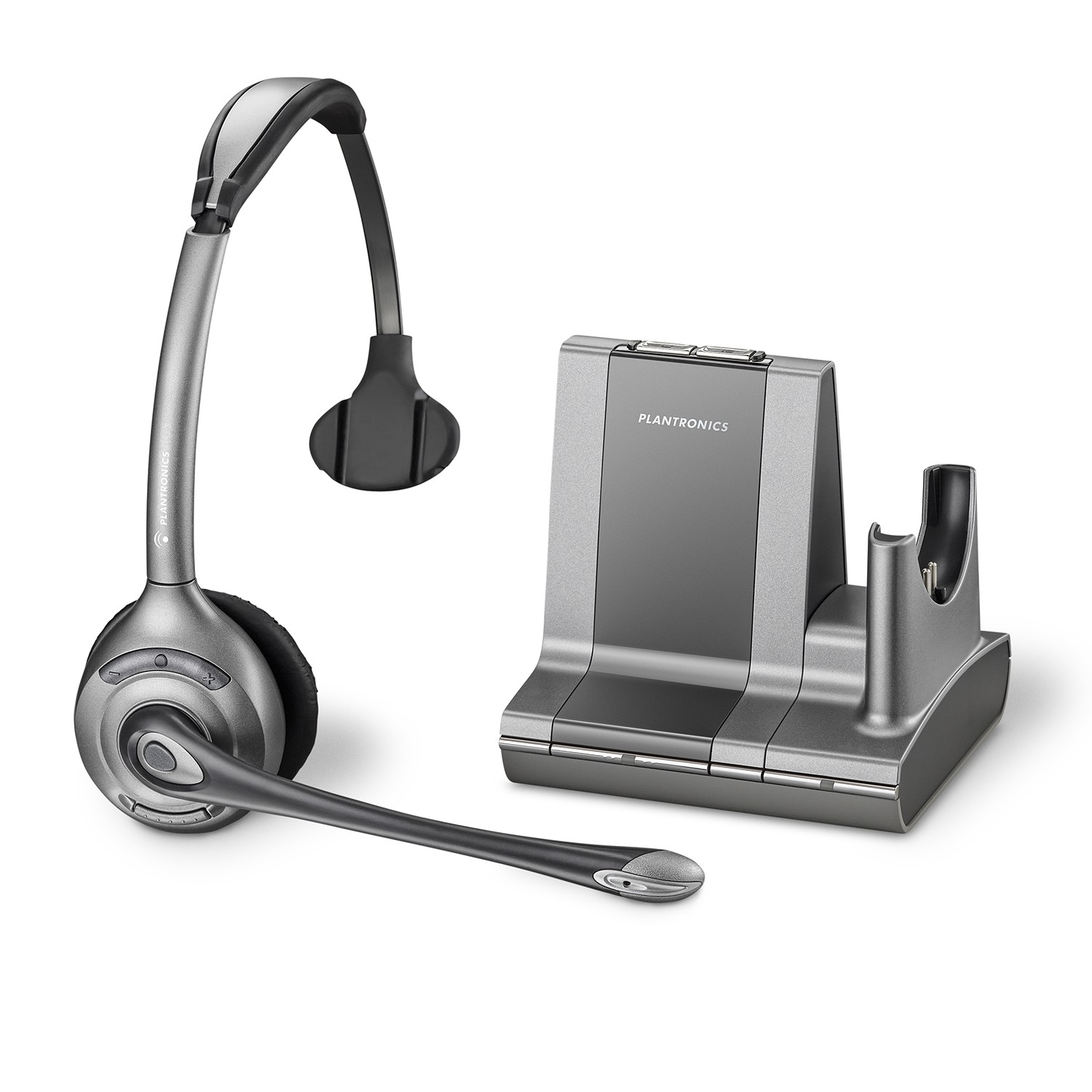 Plantronics Savi Office WO300 Wireless Monaural Headset for PC and Desk Phone - A Grade