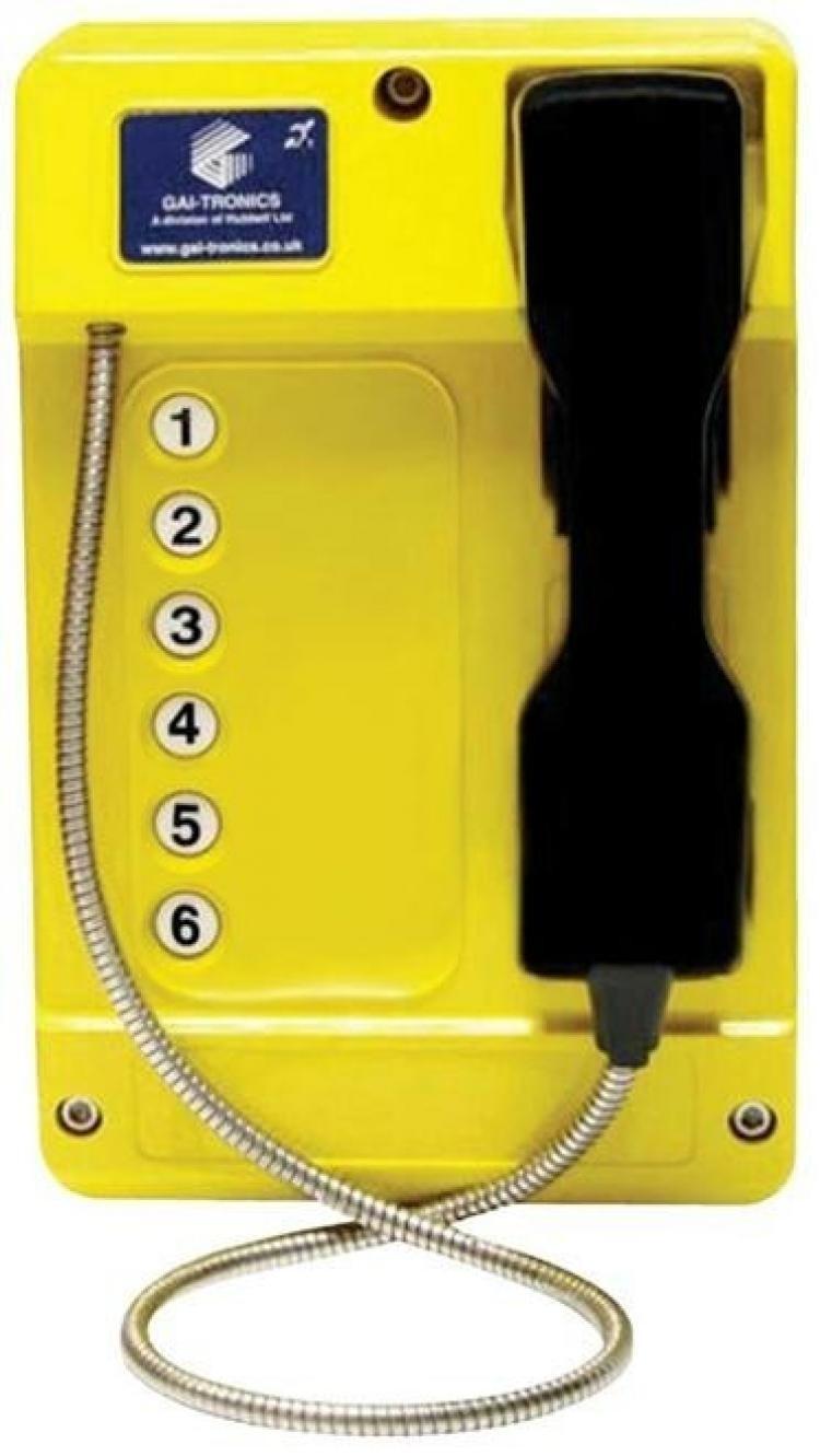 GAI-Tronics Commander Smart 6 Button - SC - Yellow