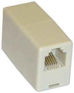 RJ11 Coupler Pin 1 To Pin 1 (4 Way)