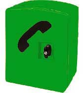 Storacall RM Telephone Cabinet - Green