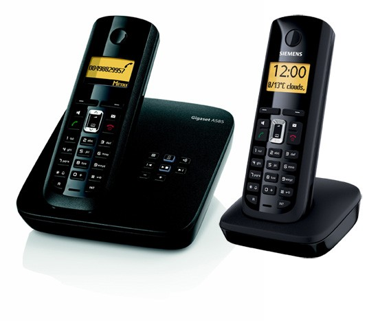 Siemens Gigaset A585 Twin Cordless Phone with Answering Machine