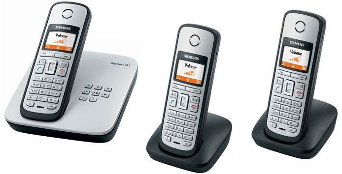 Siemens Gigaset C385 Cordless Phone - Triple Pack