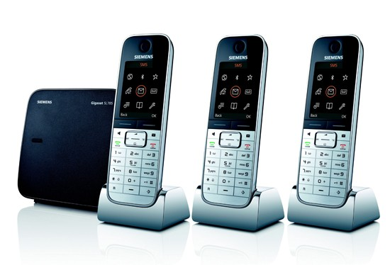 Siemens Gigaset SL785 Triple High End Cordless Telephone with Bluetooth