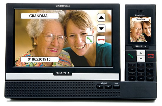 Simpla Simplaphone Touchscreen Cordless Phone