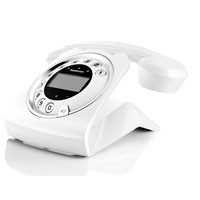 Sagemcom Sixty Retro Cordless Phone With Answering Machine - White