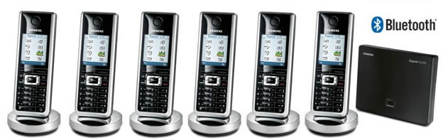 Siemens Gigaset SL565 Cordless Phone with Bluetooth Six Pack