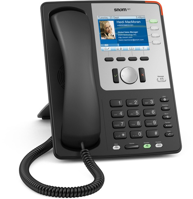 Snom 821 IP SIP Executive Business Telephone - Black