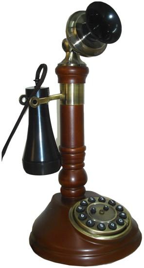 Steepletone Classic Candlestick Phone - Dark Wood