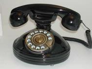 Steepletone Retro Glossy Black Desk Top Phone