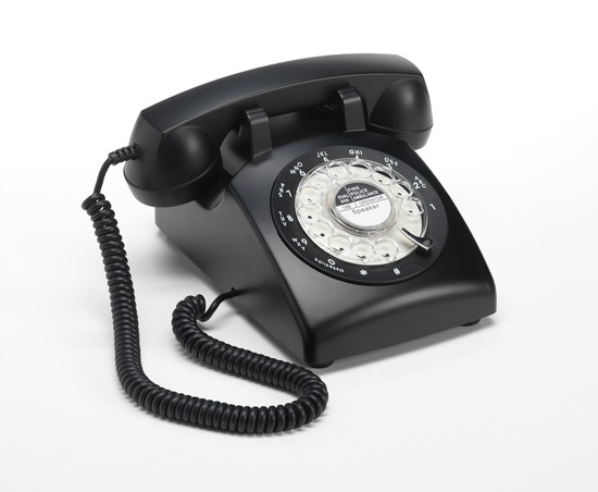 Steepletone 1960's Desktop Telephone - Black