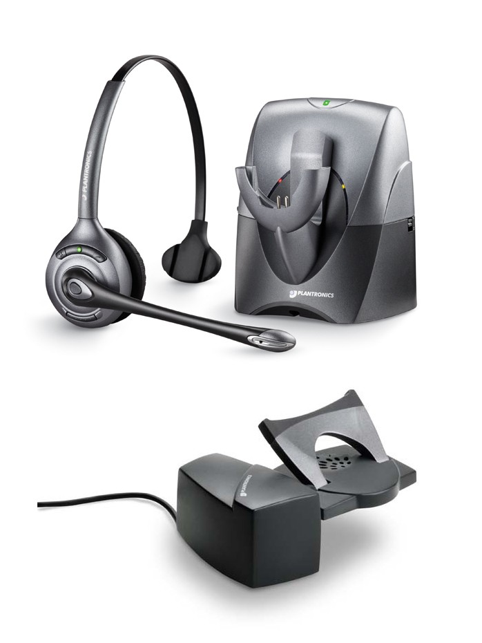Plantronics CS351N Supra - Noise Cancelling Cordless Headset with Plantronics HL10 Lifter - A GRADE
