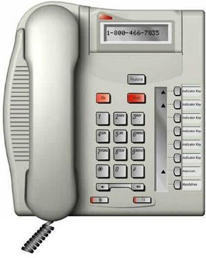 Meridian Norstar T7208 System Phone - Platinum
