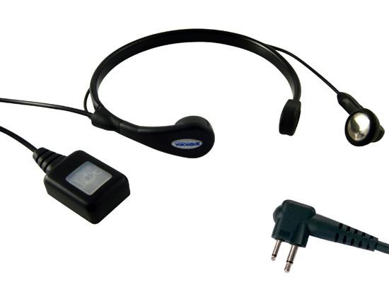 CoolTalk VoiceBox Standard - Radio Throat Microphone - For Two Pin Motorola Radios