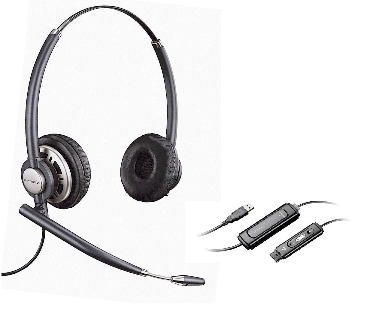 Plantronics Encore Pro HW301 N/A Binaural Noise Cancelling USB Headset