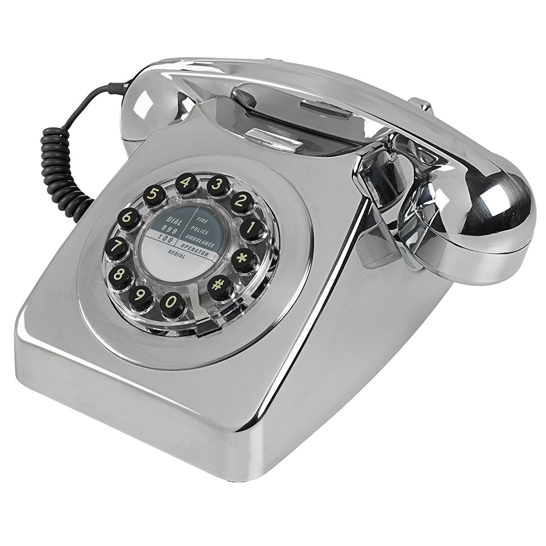 Wild & Wolf 746 Retro 1960's Telephone - Chrome Brushed