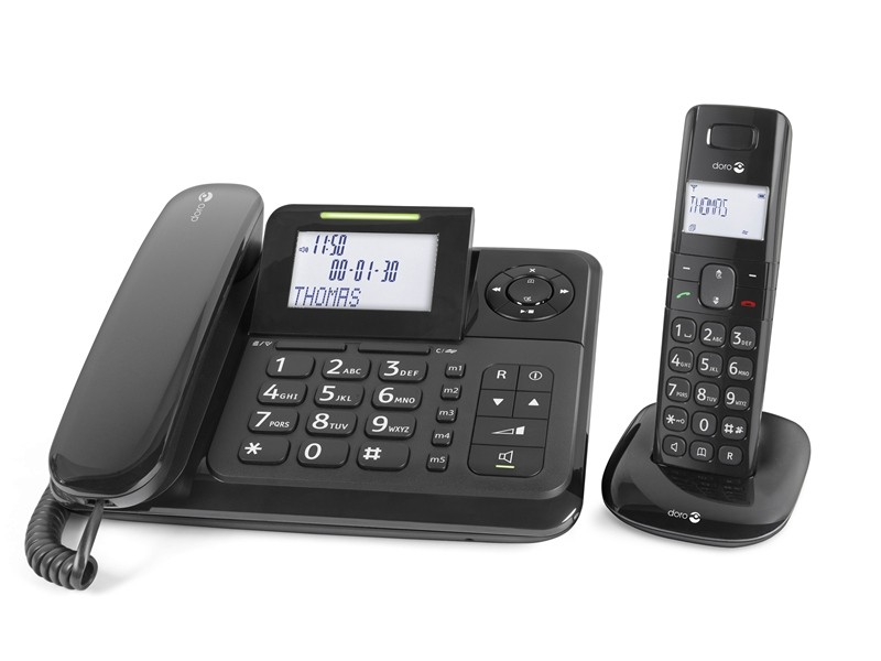 Doro Comfort 4005 Corded Phone & DECT Combo With Answering Machine