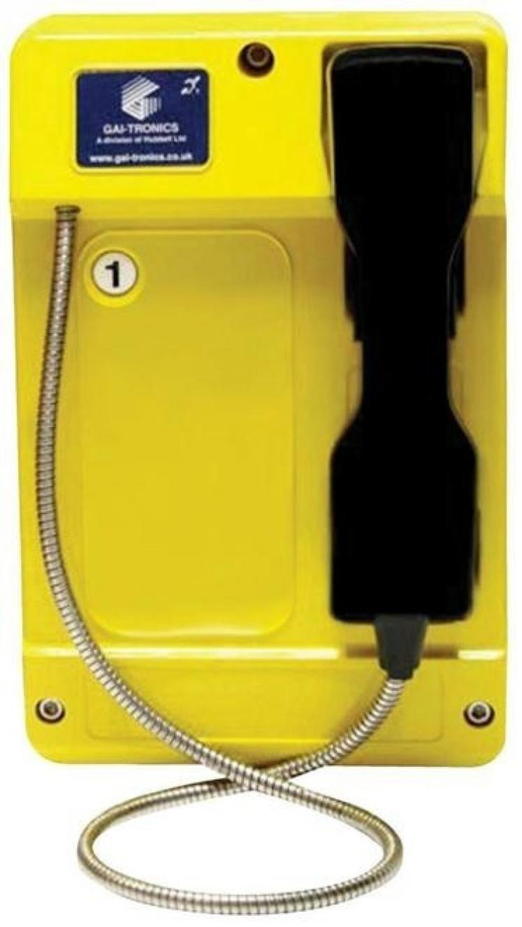 GAI-Tronics Commander Smart 1 Button - SC - Yellow