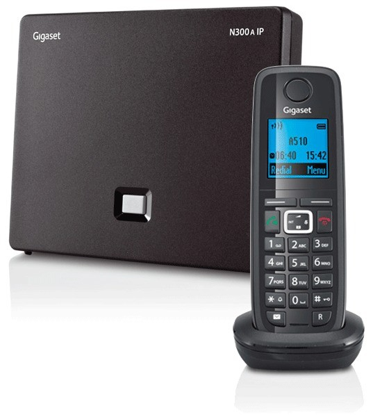 Siemens Gigaset N300A IP DECT Base With Answering Machine And A510H Additional Handset