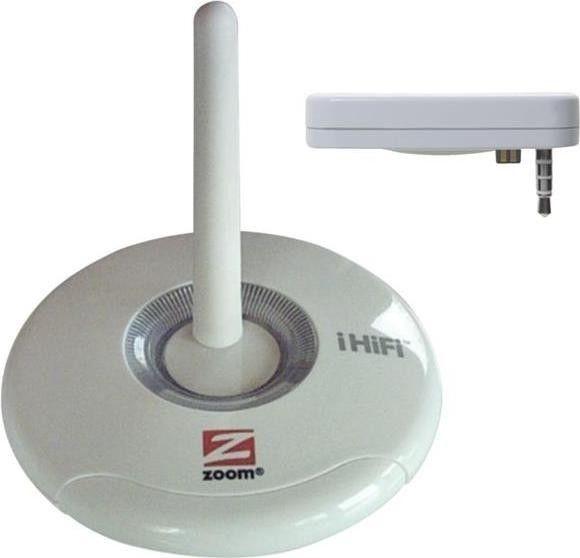 Zoom IHiFi Transmitter Receiver Bundle For Ipod mini