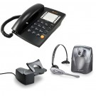 Agent 1000 Corded Telephone - Black and Plantronics CS60 DECT Wireless Headset A-Grade (36995-01) and Plantronics HL10 Lifter (36390-14) Bundle