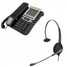 Agent 1100 Corded Telephone and JPL 501 Monaural Noise Cancelling Office Headset (JPL 501-P) Bundle