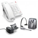 BT Converse 2100 Corded Telephone - White and Plantronics CS60 DECT Wireless Headset A-Grade (36995-01) and Plantronics HL10 Lifter (36390-14) Bundle