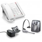 BT Converse 2200 Corded Telephone - White and Plantronics CS60 DECT Wireless Headset A-Grade (36995-01) and Plantronics HL10 Lifter (36390-14) Bundle