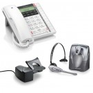 BT Converse 2300 Corded Telephone - White and Plantronics CS60 DECT Wireless Headset A-Grade (36995-01) and Plantronics HL10 Lifter (36390-14) Bundle