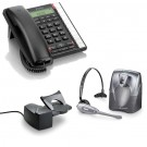 BT Converse 2300 Corded Telephone - Black and Plantronics CS60 DECT Wireless Headset A-Grade (36995-01) and Plantronics HL10 Lifter (36390-14) Bundle