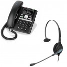 BT Paragon 650 Corded Telephone With Answering Machine and JPL 501 Monaural Noise Cancelling Office Headset (JPL 501-P) Bundle