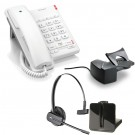 BT Converse 2100 - White and Plantronics CS540 Convertible DECT Cordless Headset - A Grade (84693-02) and Plantronics Savi HL10 - Straight Plug Version (60961-35) Bundle