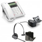 BT Converse 2300 - White and Plantronics CS540 Convertible DECT Cordless Headset - A Grade (84693-02) and Plantronics Savi HL10 - Straight Plug Version (60961-35) Bundle