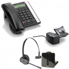 BT Converse 2300 - Black and Plantronics CS540 Convertible DECT Cordless Headset - A Grade (84693-02) and Plantronics Savi HL10 - Straight Plug Version (60961-35) Bundle