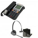 Agent 1100 Corded Telephone and Plantronics CS540 Convertible DECT Cordless Headset - A Grade (84693-02) Bundle
