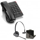 BT Converse 2100 - Black and Plantronics CS540 Convertible DECT Cordless Headset - A Grade (84693-02)  Bundle