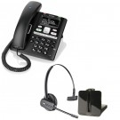 BT Paragon 650 - Corded Telephone / Answering Machine and Plantronics CS540 Convertible DECT Cordless Headset - A Grade (84693-02) Bundle