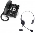 BT Paragon 650 - Corded Telephone / Answering Machine and JPL 100 Binaural Noise Cancelling Office Headset (JPL100B) Bundle