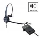 Plantronics M12 Vista Amplifier - A - Grade + JPL 401 Monaural Noise Cancelling Office Headset
