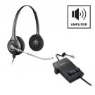 Plantronics M12 Vista Amplifier - A GRADE + Plantronics HW261 Supraplus Wideband Binaural Headset - A Grade