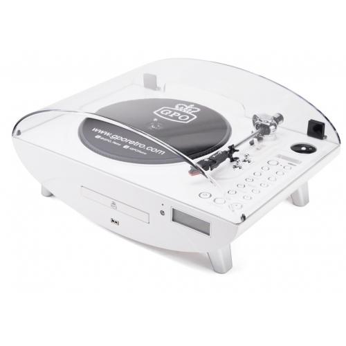 GPO Jive Record Player - White