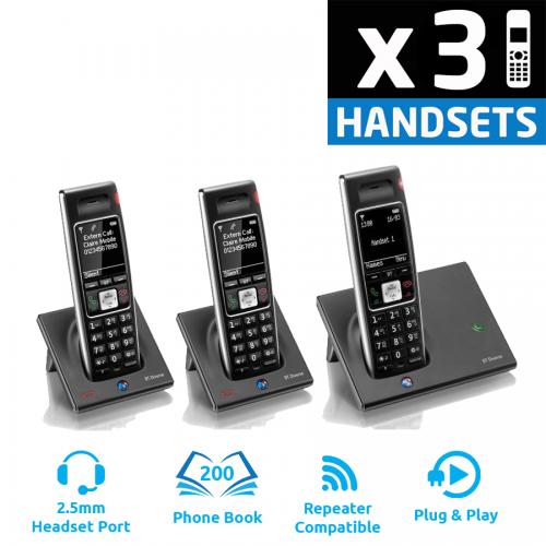 BT Diverse 7410 Plus DECT Cordless Phone - Triple Pack