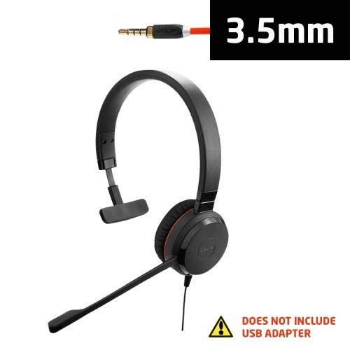 Jabra Evolve 30 II UC Mono Headset with 3.5mm Jack