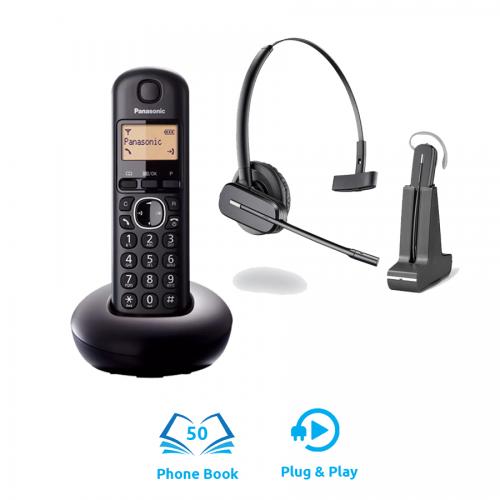 Panasonic KX-TGB210 DECT Cordless Phone + Plantronics C565 DECT Cordless Headset