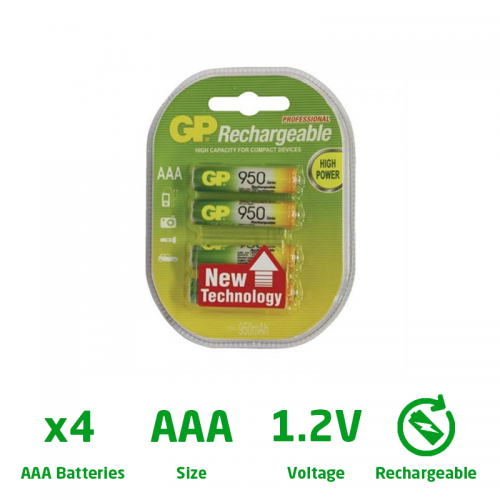 Titan AAA 950MAH Recharge Battery Nimh x 4